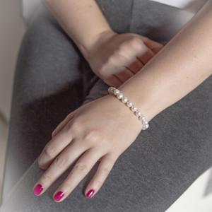 Stříbrný náramek s pravými perlami AAA Savour