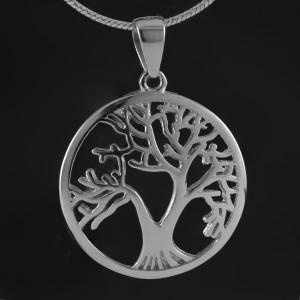 Přívěsek strom života z pravého stříbra s rhodiovaným povrchem