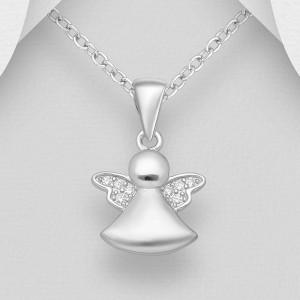 Přívěsek andělíček stříbro
