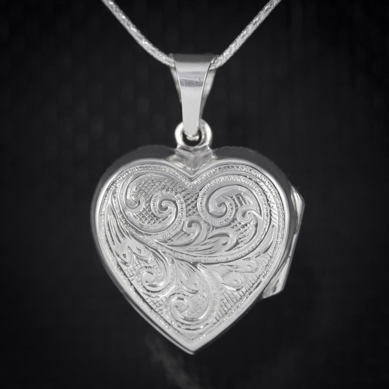 Stříbrný medailonek na fotku Savour otevírací srdce