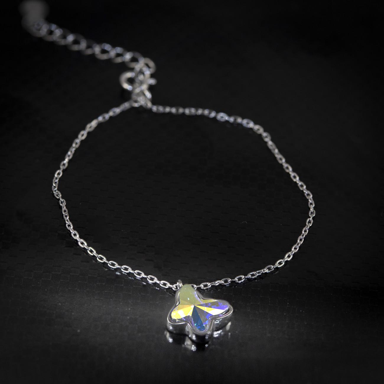 Stříbrný náramek Savour s pravým krystalem Swarovski - aurore butterfly