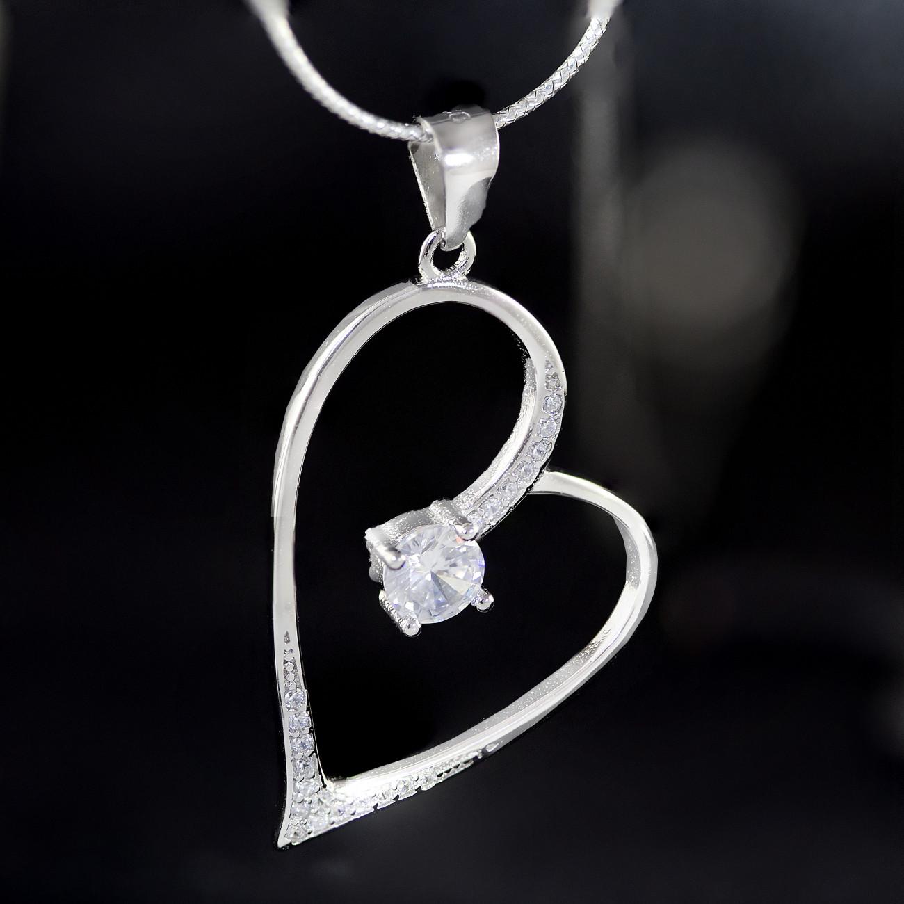 Stříbrný přívěsek srdce Savour luxury