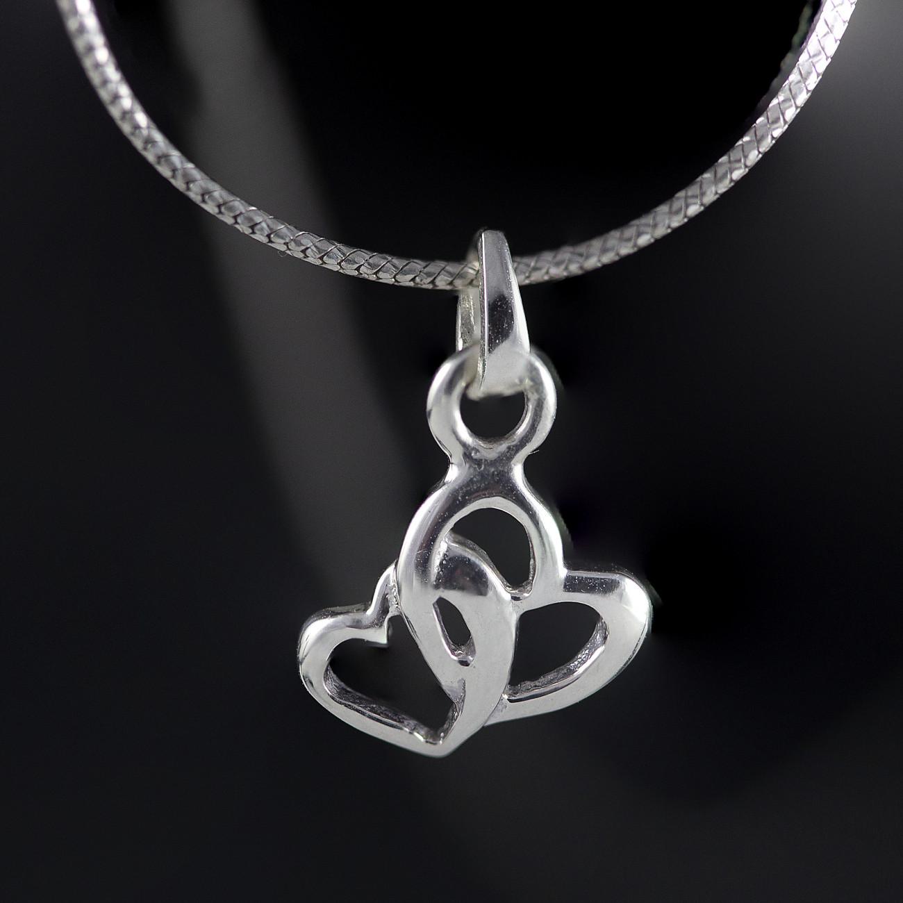Stříbrný přívěsek srdce Savour triple heart
