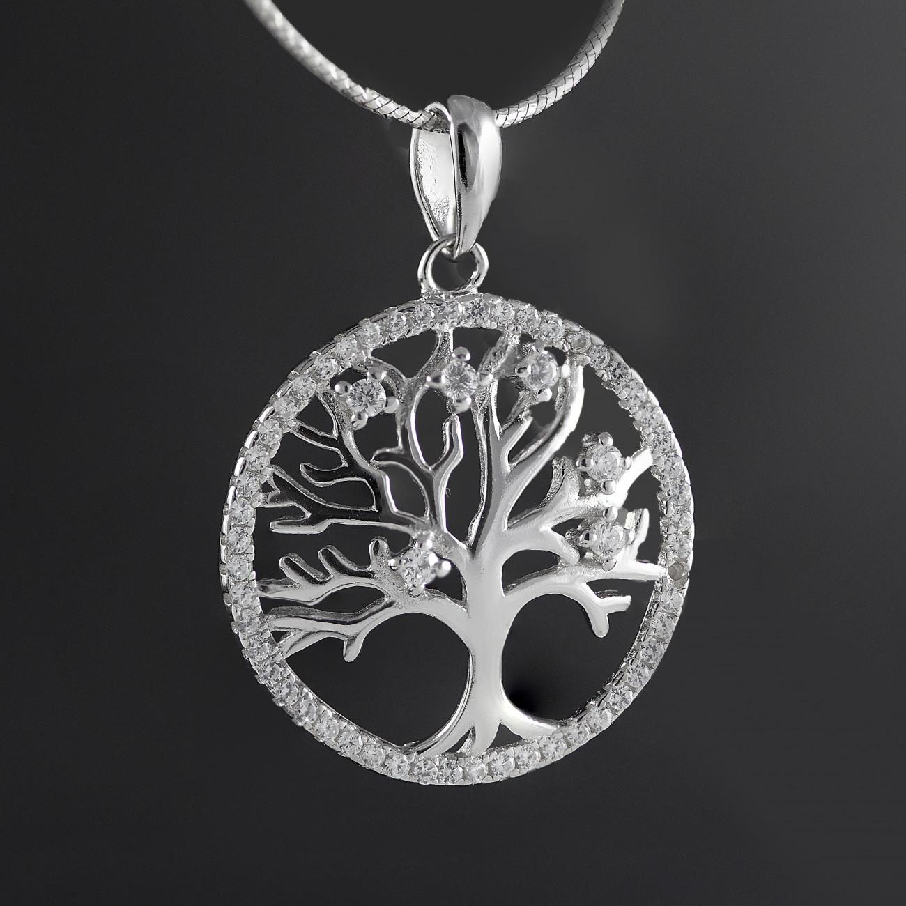 Luxusní stříbrný přívěsek strom života Savour