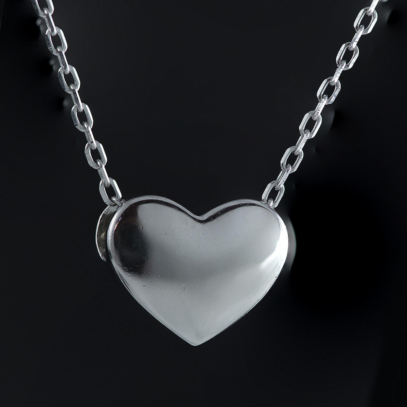 Stříbrný náhrdelník srdce Savour