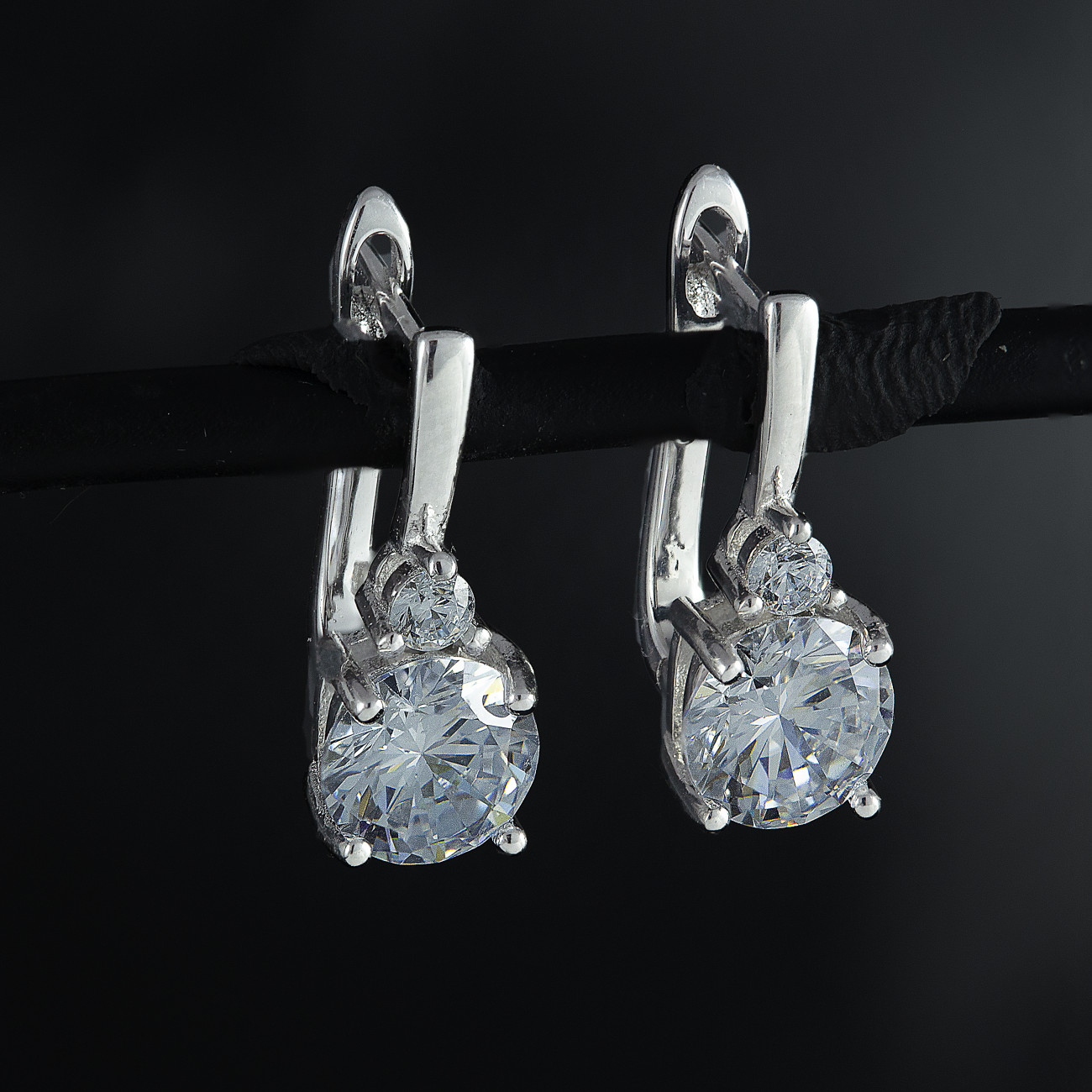 Visací, stříbrné náušnice  Savour elegance