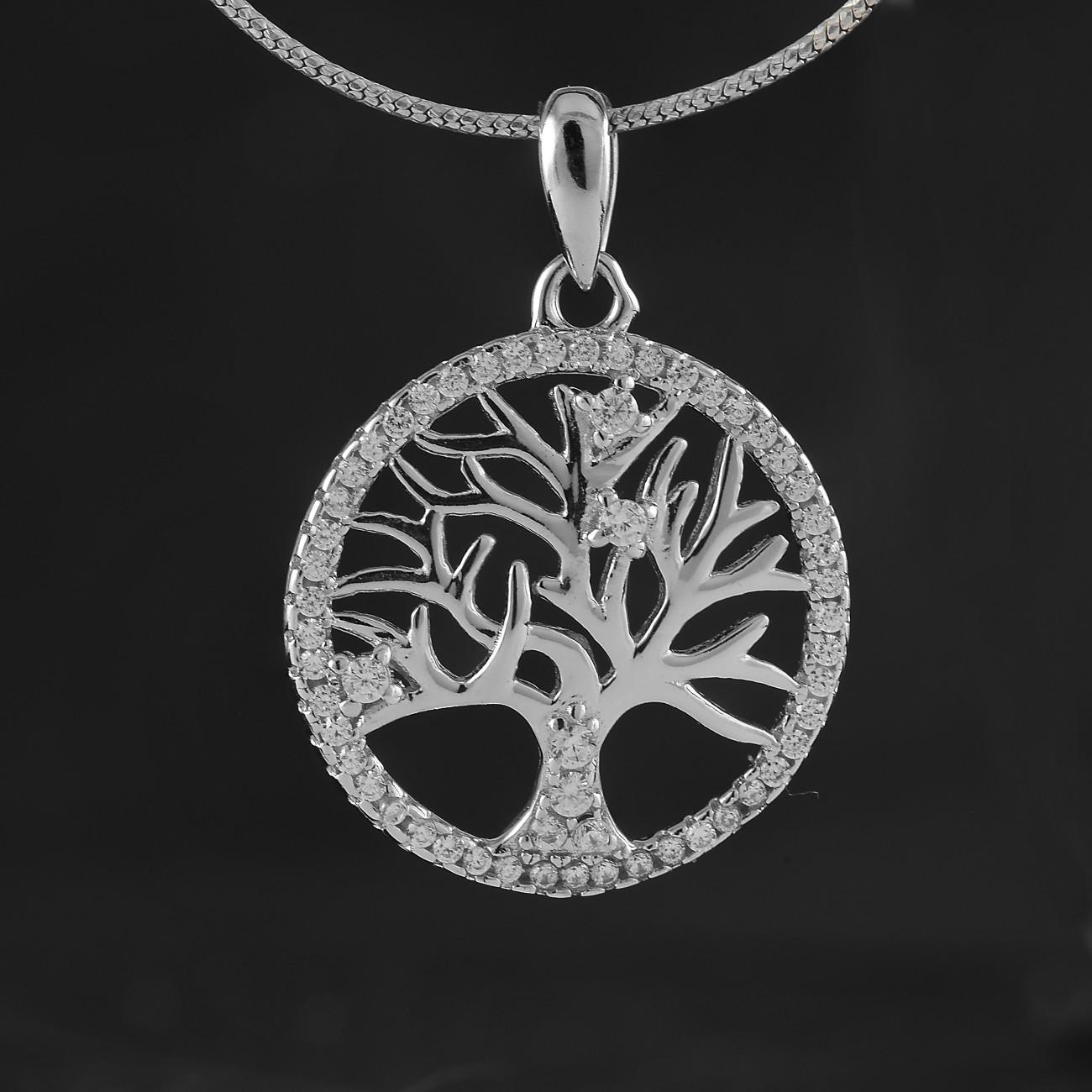 Přívěsek strom života z pravého stříbra se třpytivými zirkony