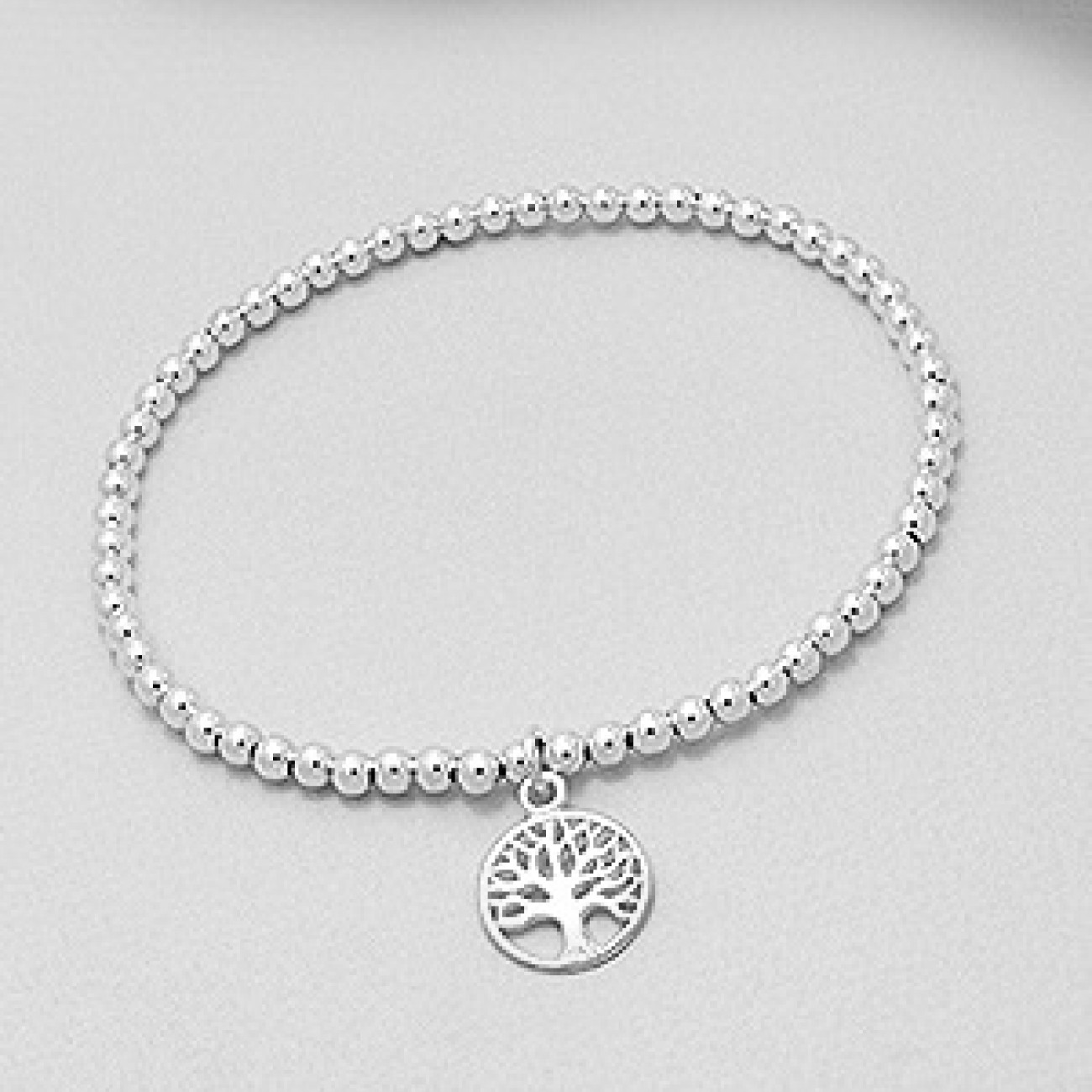 Stříbrný náramek kuličkový strom života