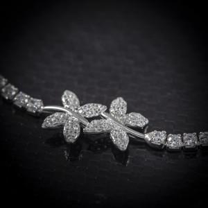 Luxusní stříbrný náramek Savour butterfly