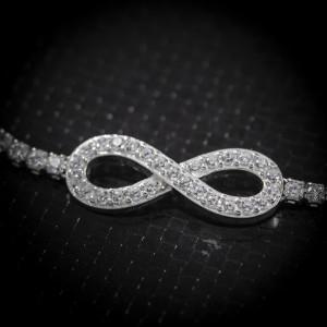 Luxusní stříbrný náramek nekonečno Savour infinity