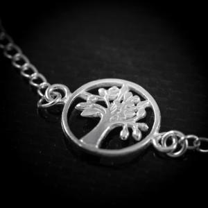 Luxusní stříbrný náramek strom života Savour