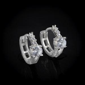 Luxusní, stříbrné náušnice Savour crystal hoop