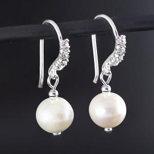 Perlové náušnice Savour crystal pearl