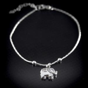 Stříbrný náramek Savour elephant