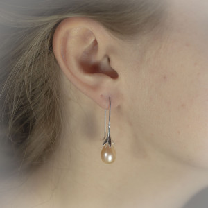 Perlové náušnice Savour pearl flower