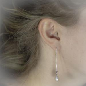 Řetízkové náušnice Savour pearl