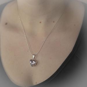 Stříbrný medailonek na krk Savour heart star