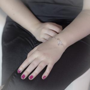 Luxusní, stříbrný náramek srdeční tep Savour