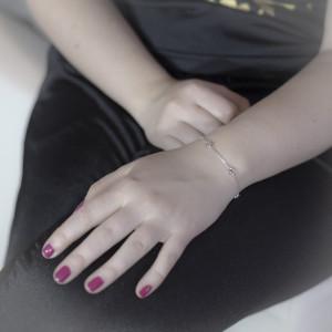 Stříbrný náramek Savour s čirými krystaly Swarovski