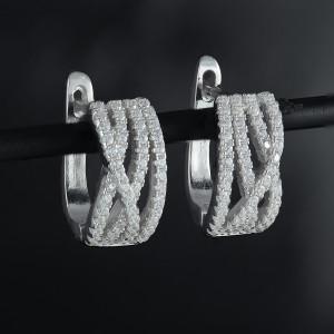 Luxusní, stříbrné náušnice kroužky Savour luxury
