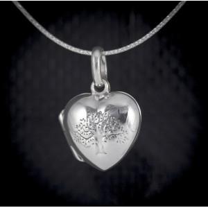 Stříbrný medailonek na fotku otevírací - strom života